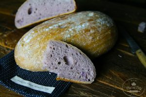 návod na prípravu kváskového chleba s fialovými zemiakmi