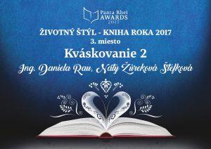 3.miesto Kniha roka 2017 pre Kváskovanie od Chuť od Naty