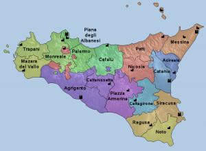 ako je rozdelená Sicília nájdete tu u Naty