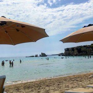 Pohľad z pláže na mori odfotený od Chuť od Naty