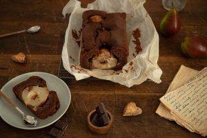 Kváskový čokoládový koláč od Naty s hruškami ako tip na jesenné pečenie