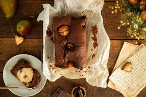 úžasný recept na jesenné pečenie s kruškami a čokoládou.