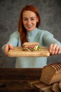chutný a zdravý celozrnný grahamový chlieb z kvásku