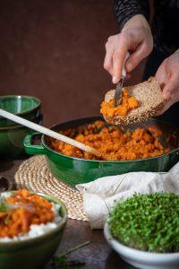 vegetariánske jedlo plné chute od Naty